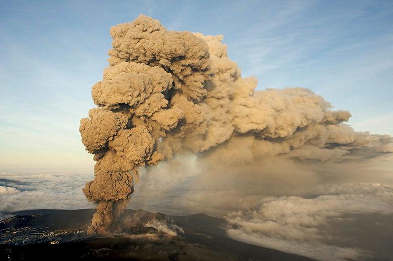 Volcanic plume from Eyjafjallajökull. Image: Ólafur Sigurjónsson.