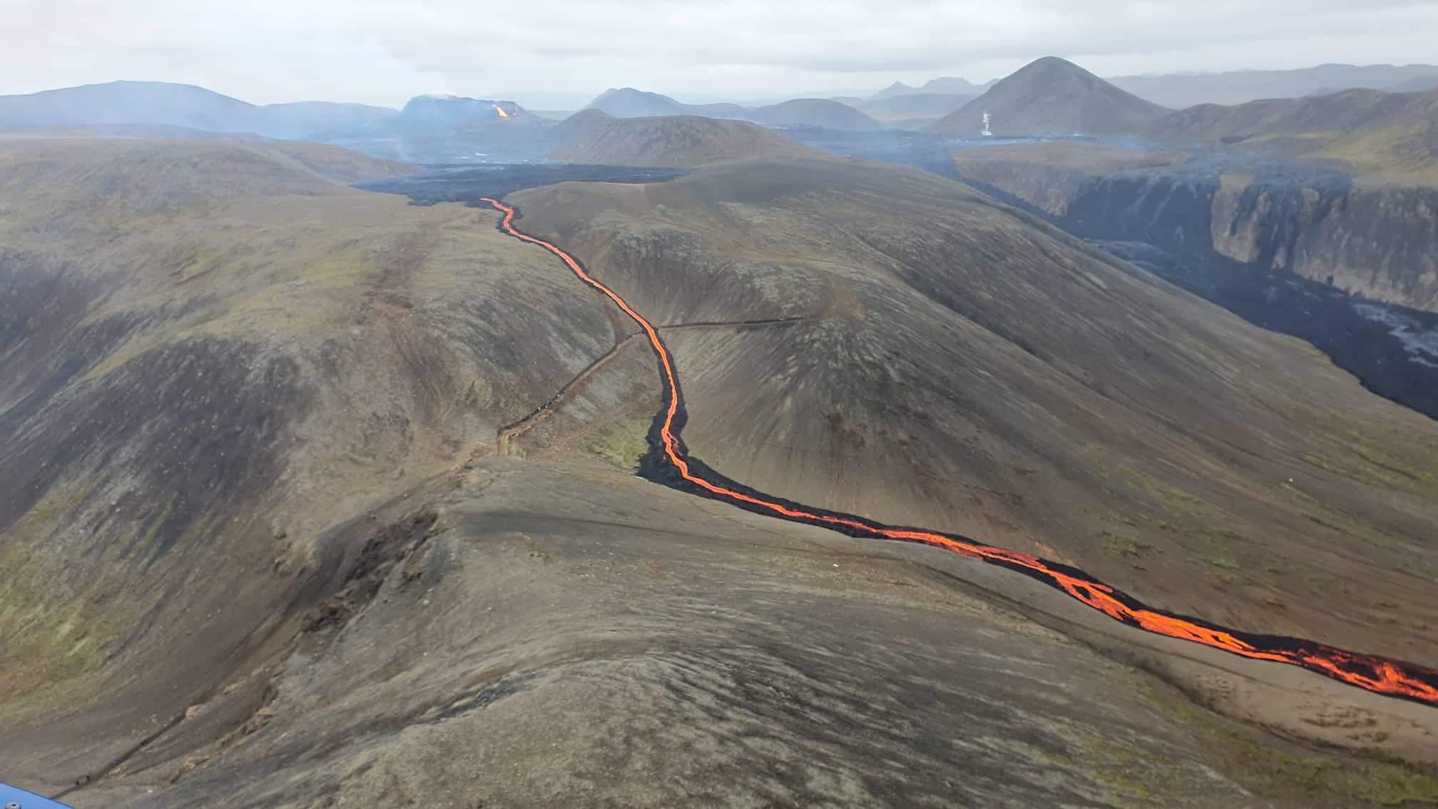 Lava flow at Reykjanes. Image: Björn Oddsson.